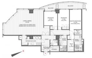 Atago Green Hills Forest Tower 3305 Floor Plan