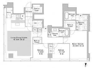 La Tour Shibuya 1406 Floor Plan