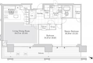 Roppongi Grand Tower Residence 2604 Floor Plan