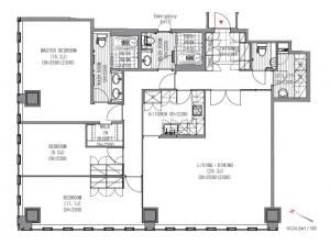 The Prudential Tower Residence 3608 Floor Plan