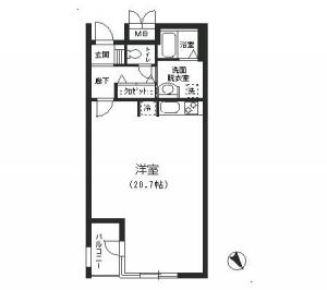 Nouvel Court Azabu 304 Floor Plan