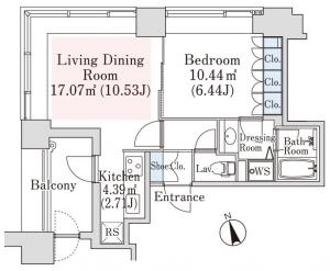 La Tour Kagurazaka 705 Floor Plan