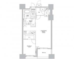 CONFORIA SHIBUYA WEST 1205 Floor Plan