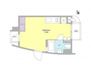 Court Modelia Roppongi 403 Floor Plan