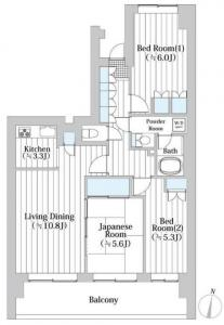 East Parks Ojima Southern Square 608 Floor Plan