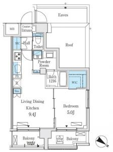 Belle Face Yoyogi 2 405 Floor Plan
