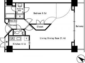 Rokko Hights 1004 Floor Plan