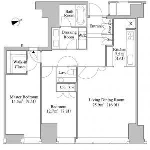 Central Park Tower La Tour Shinjuku 3814 Floor Plan