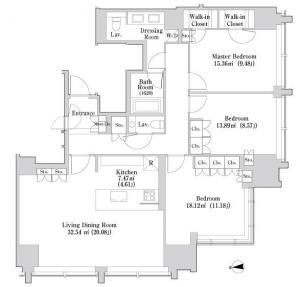 La Tour Iidabashi 908 Floor Plan