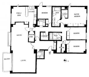 Nishiazabu Manor House 301 Floor Plan