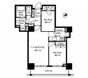 Park Tower Shibaura Bayward Urban Wing 2006 Floor Plan