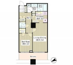 Shirokane Tower 2211 Floor Plan