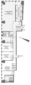The Prudential Tower Residence 2910 Floor Plan