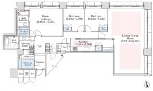 La Tour Hanzomon 1206 Floor Plan
