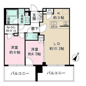 City Towers Tokyo Bay CENTRAL TOWER 3207 Floor Plan