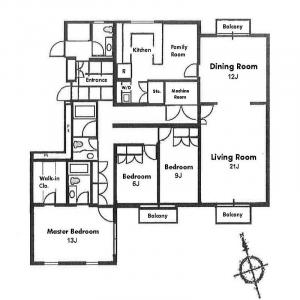 Palais Royal Minamiazabu Floor Plan