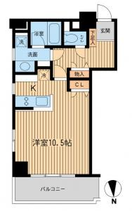 Shibakoen Apartment 402 Floor Plan
