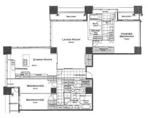 Park Axis Aoyama 1-chome Tower 4401 Floor Plan