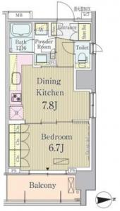 Park Axis Ikedayama 1014 Floor Plan