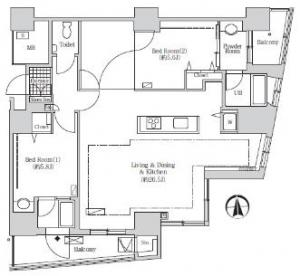 Acty Shiodome 3206 Floor Plan