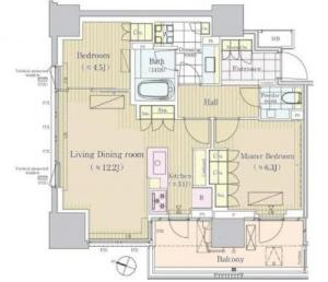 Park Court Sambancho Hill Top Residence 1305 Floor Plan