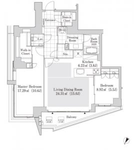 La Tour Shibuya Jinnan 1603 Floor Plan