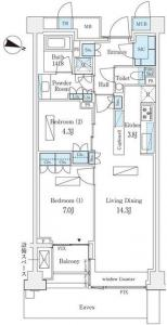 Park Court Aoyama 1-chome 302 Floor Plan