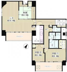River and Tower 1603 Floor Plan