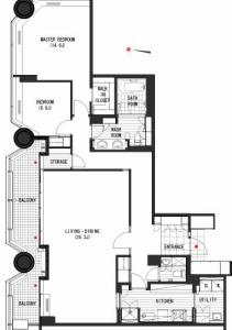 Akasaka Tameike Tower Residence 2401 Floor Plan