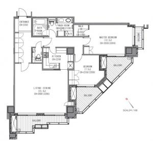 Motoazabu Hills Forest Tower 1704 Floor Plan
