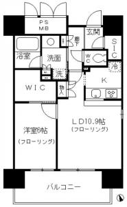Fontaine Shibaura 910 Floor Plan