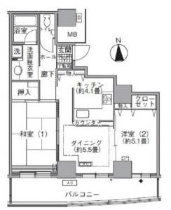 Acty Shiodome 1310 Floor Plan