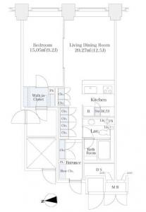 La Tour Shibakoen 2304 Floor Plan