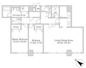 Wistaria Heights Ichibancho 902 Floor Plan