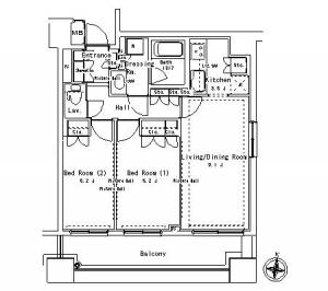 Park Axis Ochanomizu Stage 814 Floor Plan