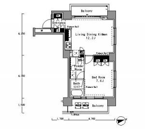 Park Axis Shibuya Sakuraoka West 1406 Floor Plan