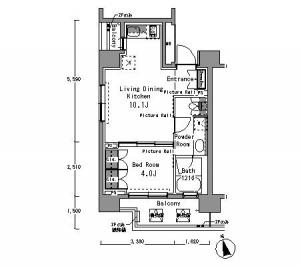 Park Axis Shibuya Sakuraoka West 1001 Floor Plan