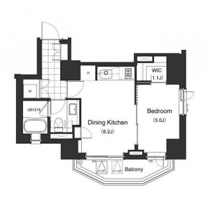 Apartments Tower Roppongi 602 Floor Plan