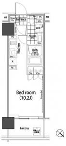 Park Habio Akasaka Tower 1603 Floor Plan