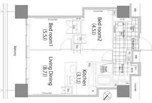 Park Habio Akasaka Tower 1802 Floor Plan