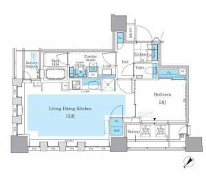 Park Axis Tsukishima Mature Style 1103 Floor Plan