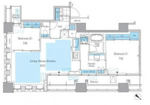 Park Axis Tsukishima Mature Style 1202 Floor Plan
