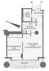 Akasaka Tameike Tower Residence 2210 Floor Plan