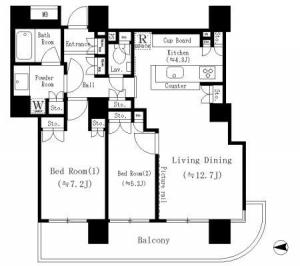 River Point Tower 307 Floor Plan