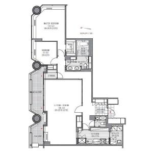 Akasaka Tameike Tower Residence Floor Plan