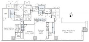 La Tour Shibakoen 2nd 2703 Floor Plan