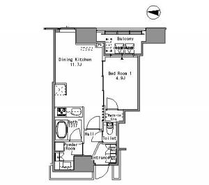 White Tower Hamamatsucho 410 Floor Plan
