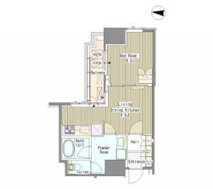 White Tower Hamamatsucho 711 Floor Plan