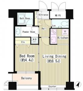 Wat's Shirokane 703 Floor Plan