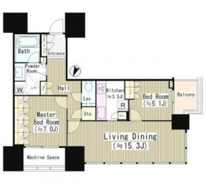 Akasaka Tower Residence Top of the Hill 1101 Floor Plan